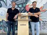 Die stolzen Gründer von Standsome Americas: René-Pierre Lavoie (links) und Eric LeBel (rechts).