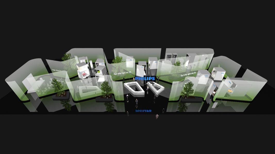 zweifaches messedesign f r philips auf der light building 2012 pressemeldung vom. Black Bedroom Furniture Sets. Home Design Ideas