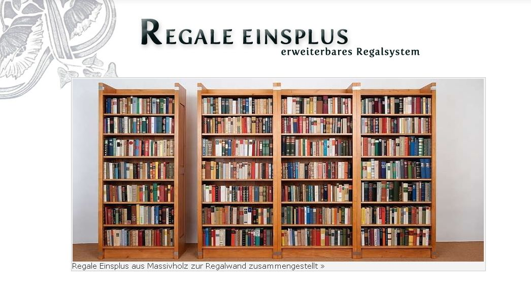 regale einsplus flexibles regalsystem aus massivholz. Black Bedroom Furniture Sets. Home Design Ideas