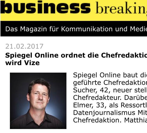 Expose printausgabe mit christian o bruch portrait for Spiegel printausgabe